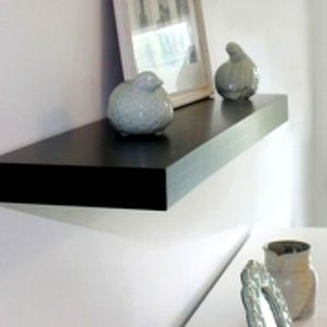 36in black floating shelf